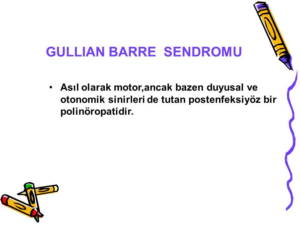 GULLIAN BARRE SENDROMU