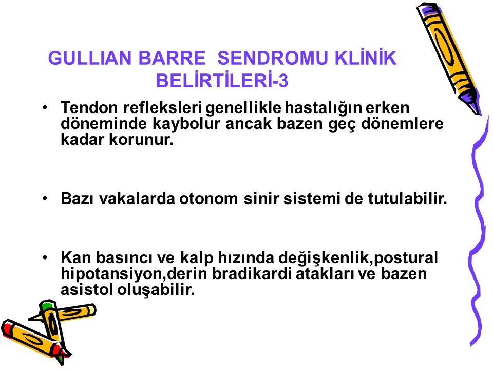 GULLIAN BARRE SENDROMU KLİNİK BELİRTİLERİ-3