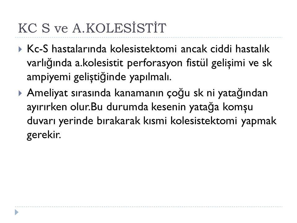 KC S ve A.KOLESİSTİT