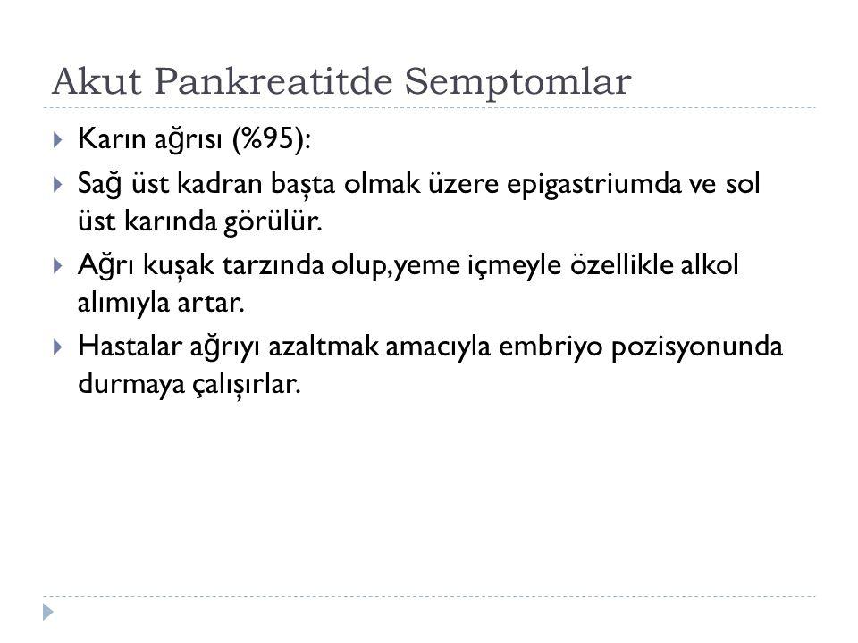 Akut Pankreatitde Semptomlar