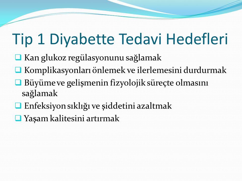 Tip 1 Diyabette Tedavi Hedefleri