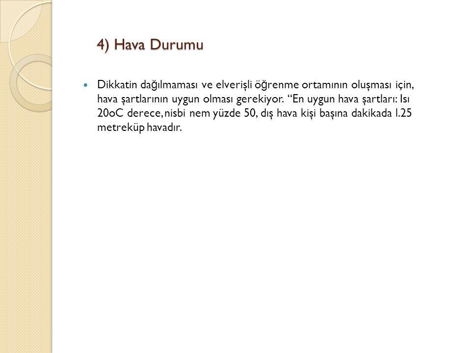 4) Hava Durumu