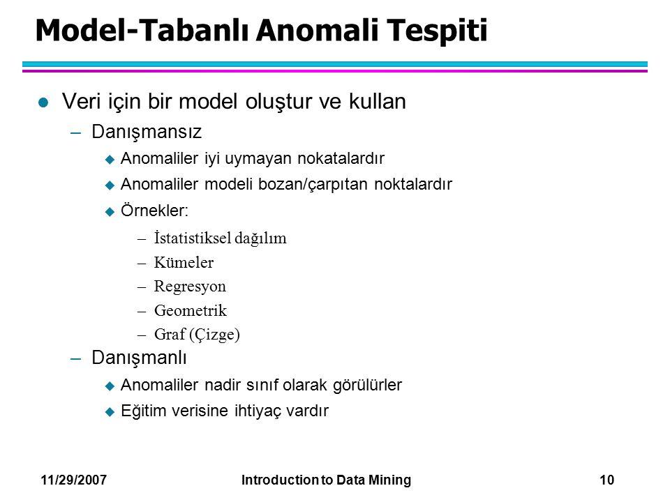 Model-Tabanlı Anomali Tespiti