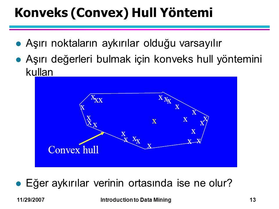 Konveks (Convex) Hull Yöntemi