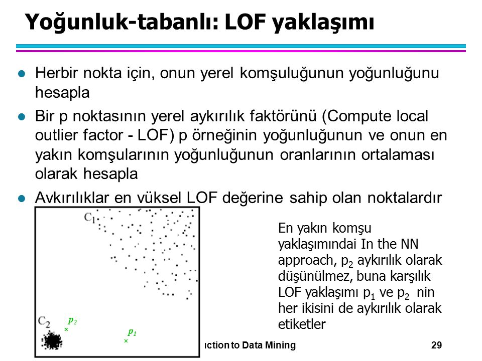 Yoğunluk-tabanlı: LOF yaklaşımı