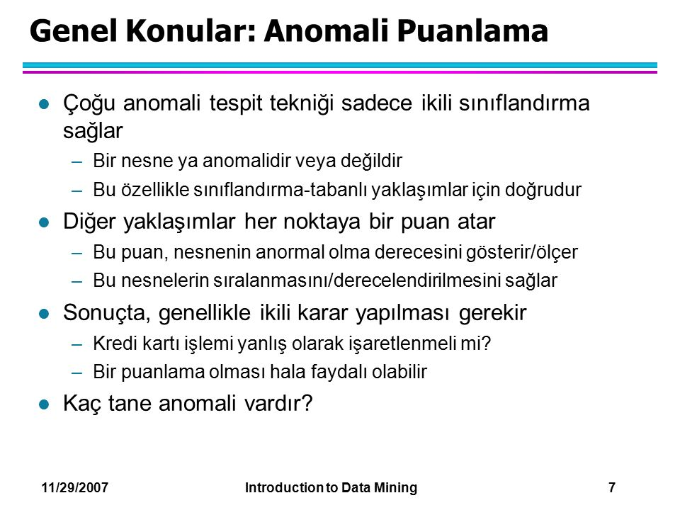 Genel Konular: Anomali Puanlama