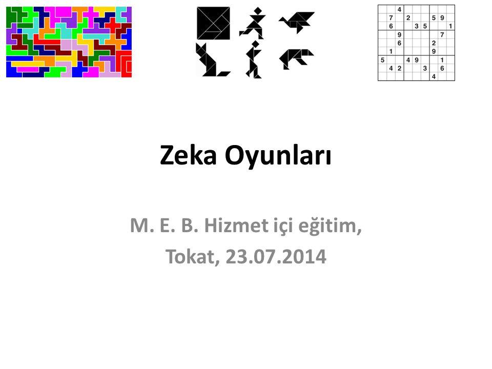 M. E. B. Hizmet içi eğitim, Tokat, 23.07.2014