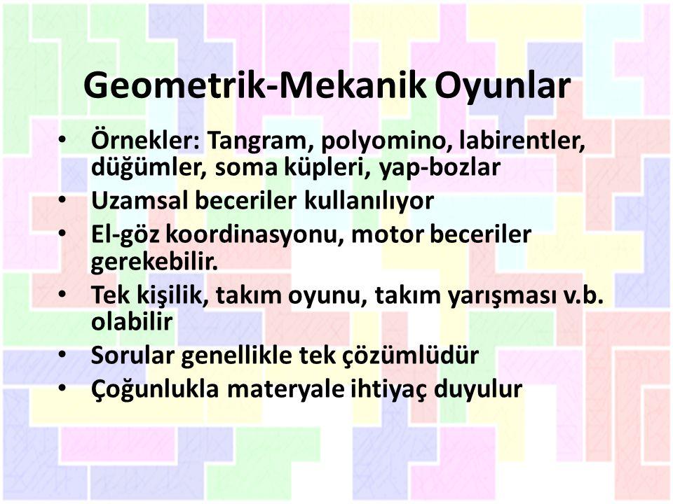 Geometrik-Mekanik Oyunlar