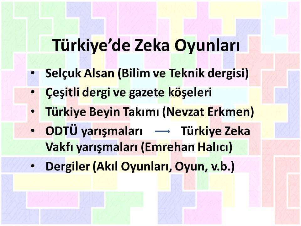Türkiye'de Zeka Oyunları