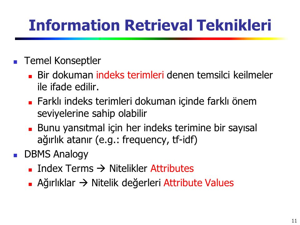 Information Retrieval Teknikleri