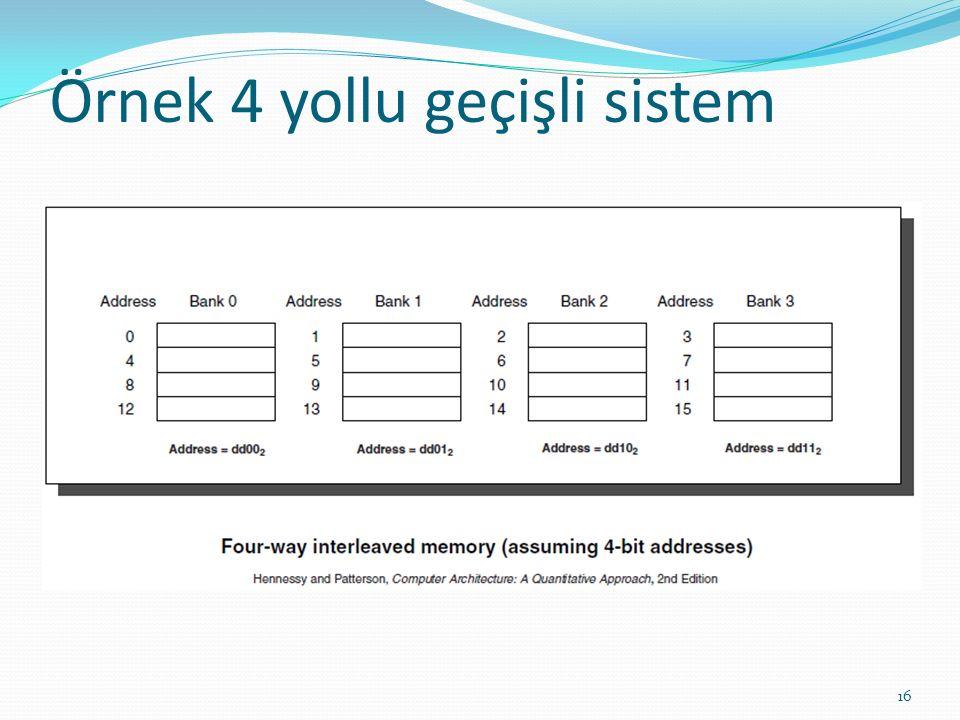 Örnek 4 yollu geçişli sistem