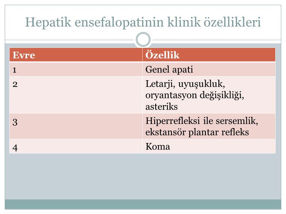Hepatik ensefalopatinin klinik özellikleri