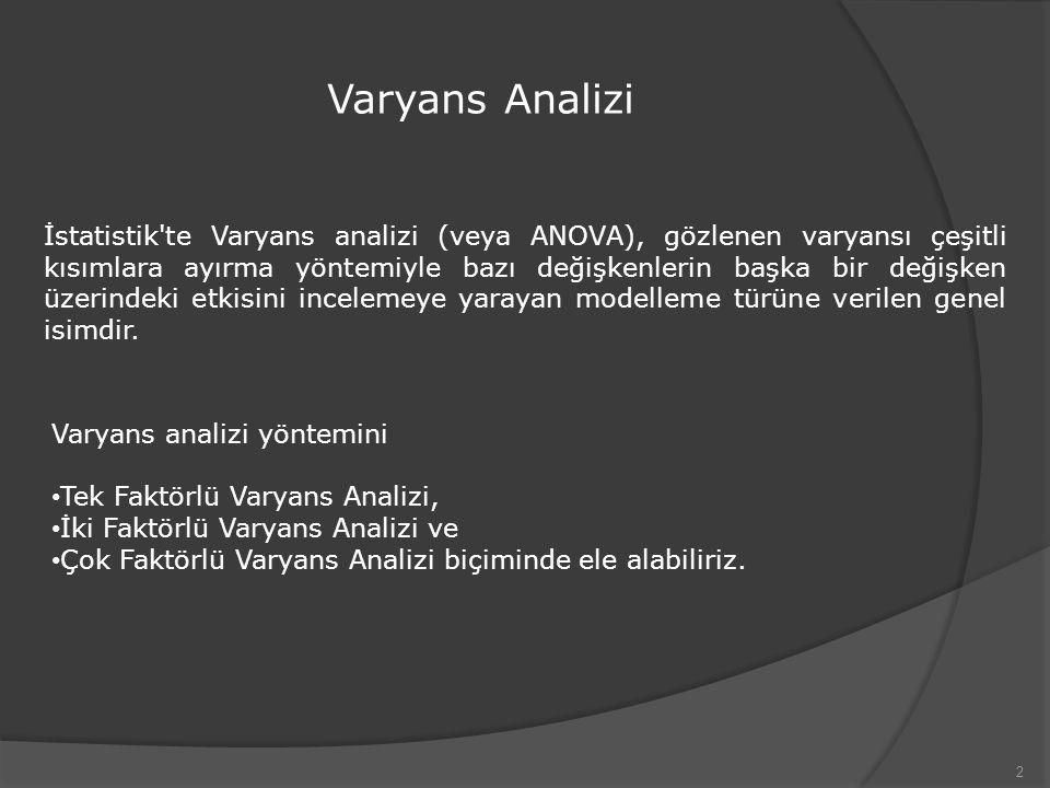 Varyans Analizi