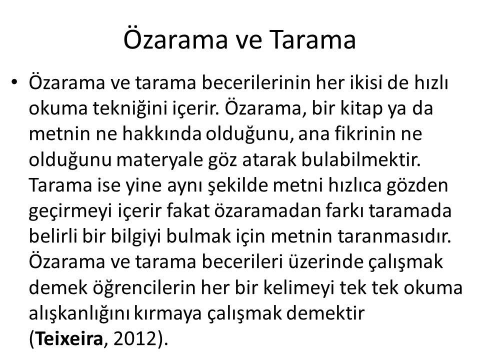 Özarama ve Tarama