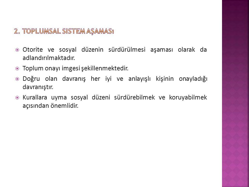 2. Toplumsal sistem aşaması