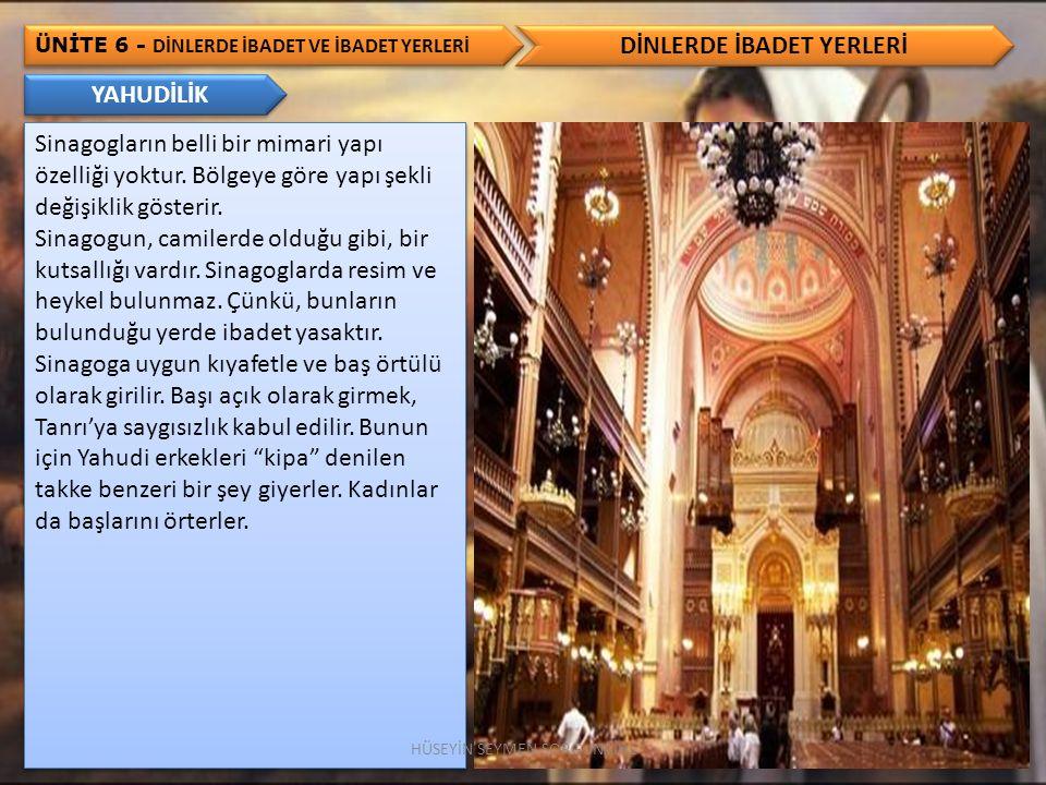 DİNLERDE İBADET YERLERİ