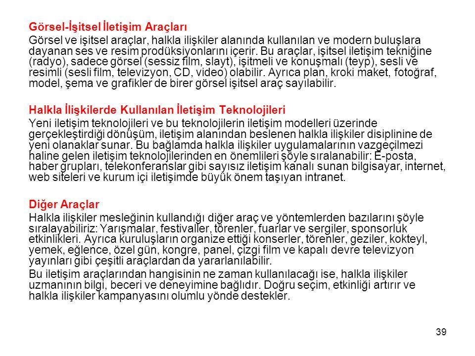 Görsel-İşitsel İletişim Araçları