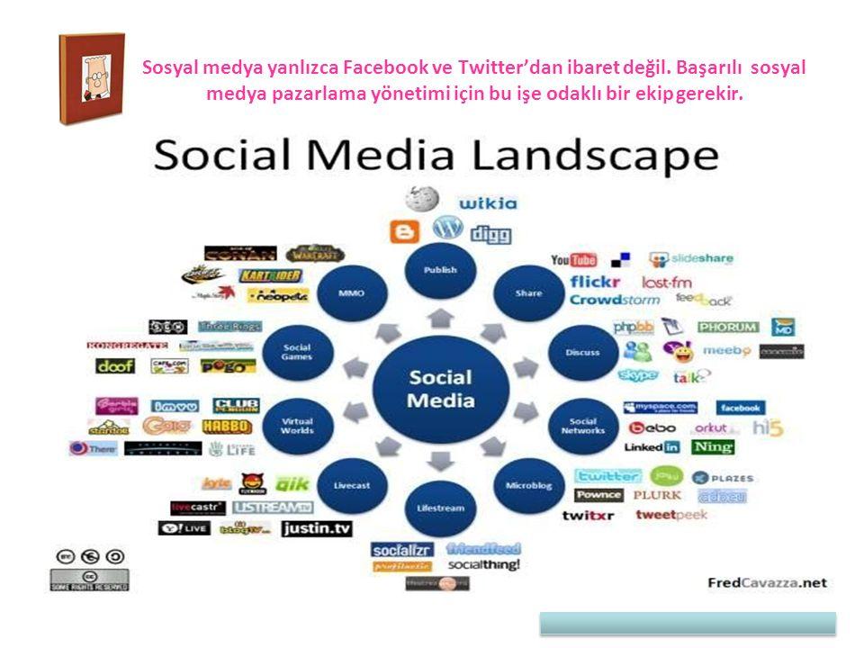 Sosyal medya yanlızca Facebook ve Twitter'dan ibaret değil