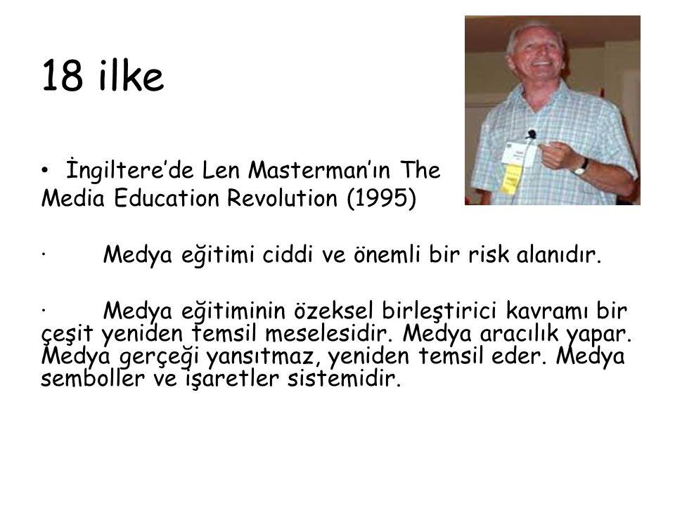 18 ilke İngiltere'de Len Masterman'ın The