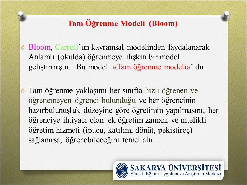 Tam Öğrenme Modeli (Bloom)