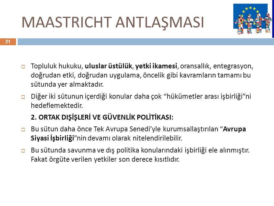 MAASTRICHT ANTLAŞMASI