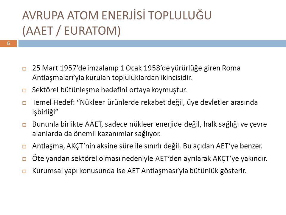 AVRUPA ATOM ENERJİSİ TOPLULUĞU (AAET / EURATOM)