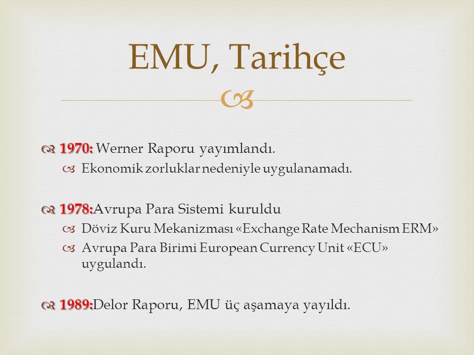 EMU, Tarihçe 1970: Werner Raporu yayımlandı.