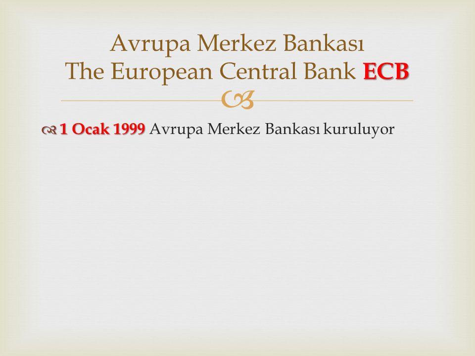 Avrupa Merkez Bankası The European Central Bank ECB