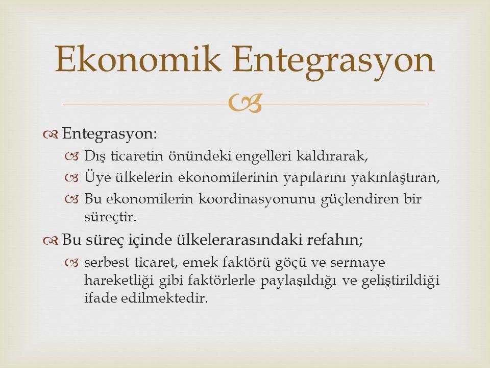 Ekonomik Entegrasyon Entegrasyon:
