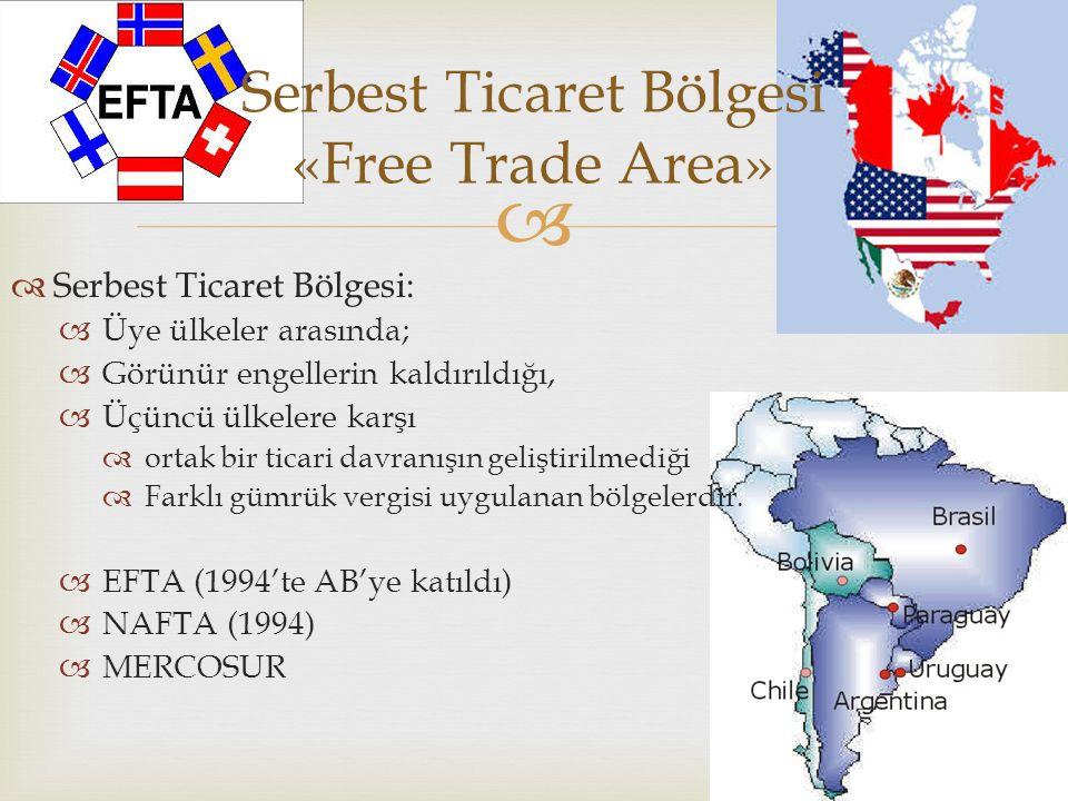 Serbest Ticaret Bölgesi «Free Trade Area»