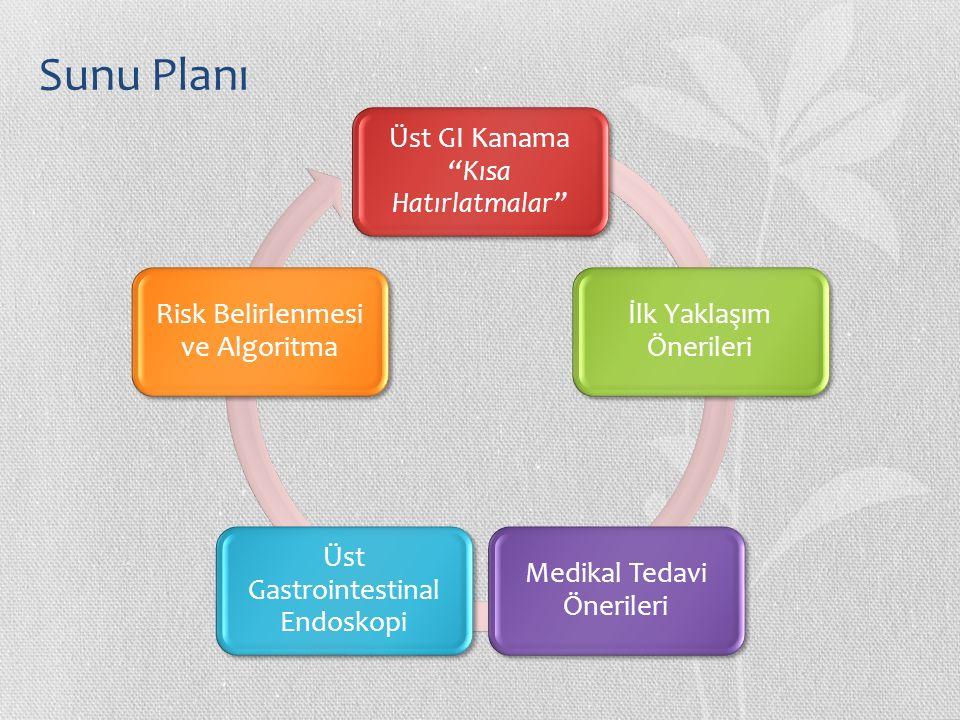 Sunu Planı Üst GI Kanama Kısa Hatırlatmalar İlk Yaklaşım Önerileri