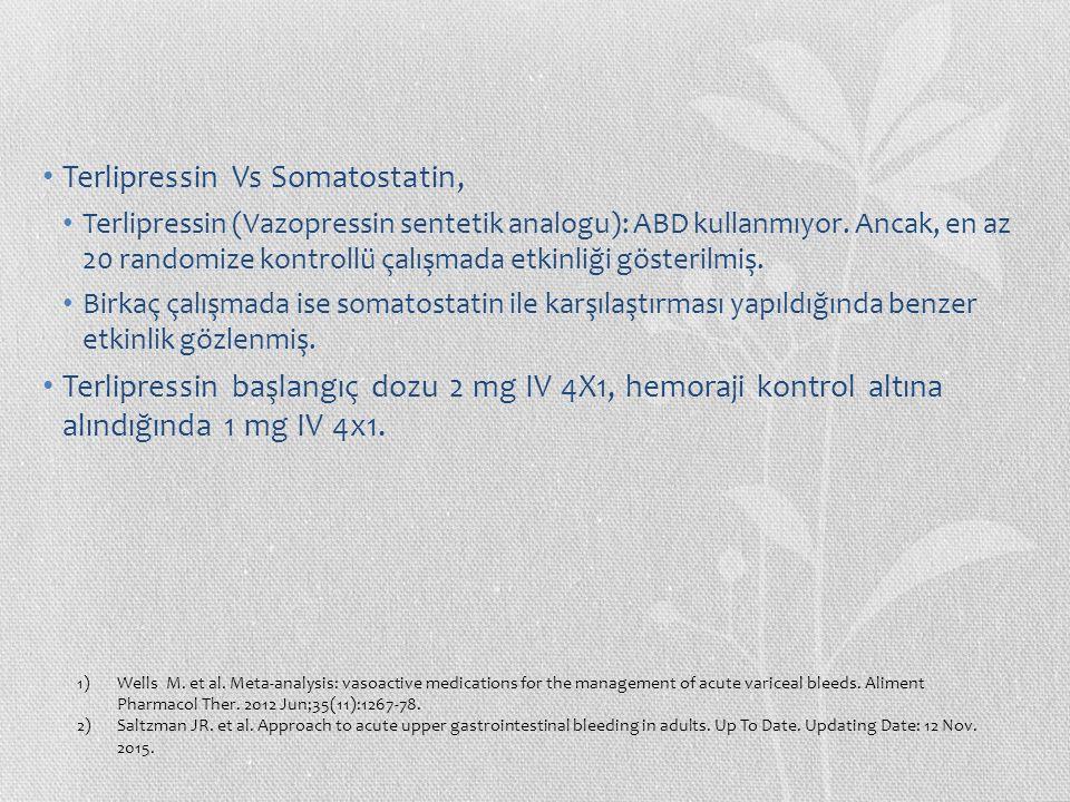 Terlipressin Vs Somatostatin,