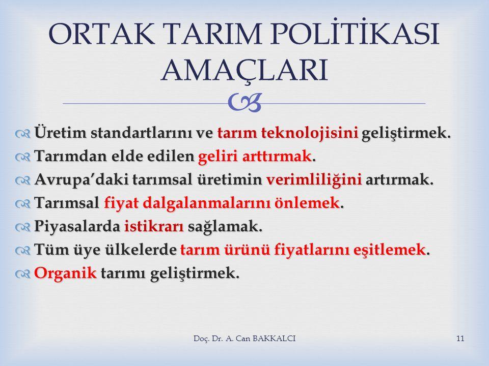 ORTAK TARIM POLİTİKASI AMAÇLARI