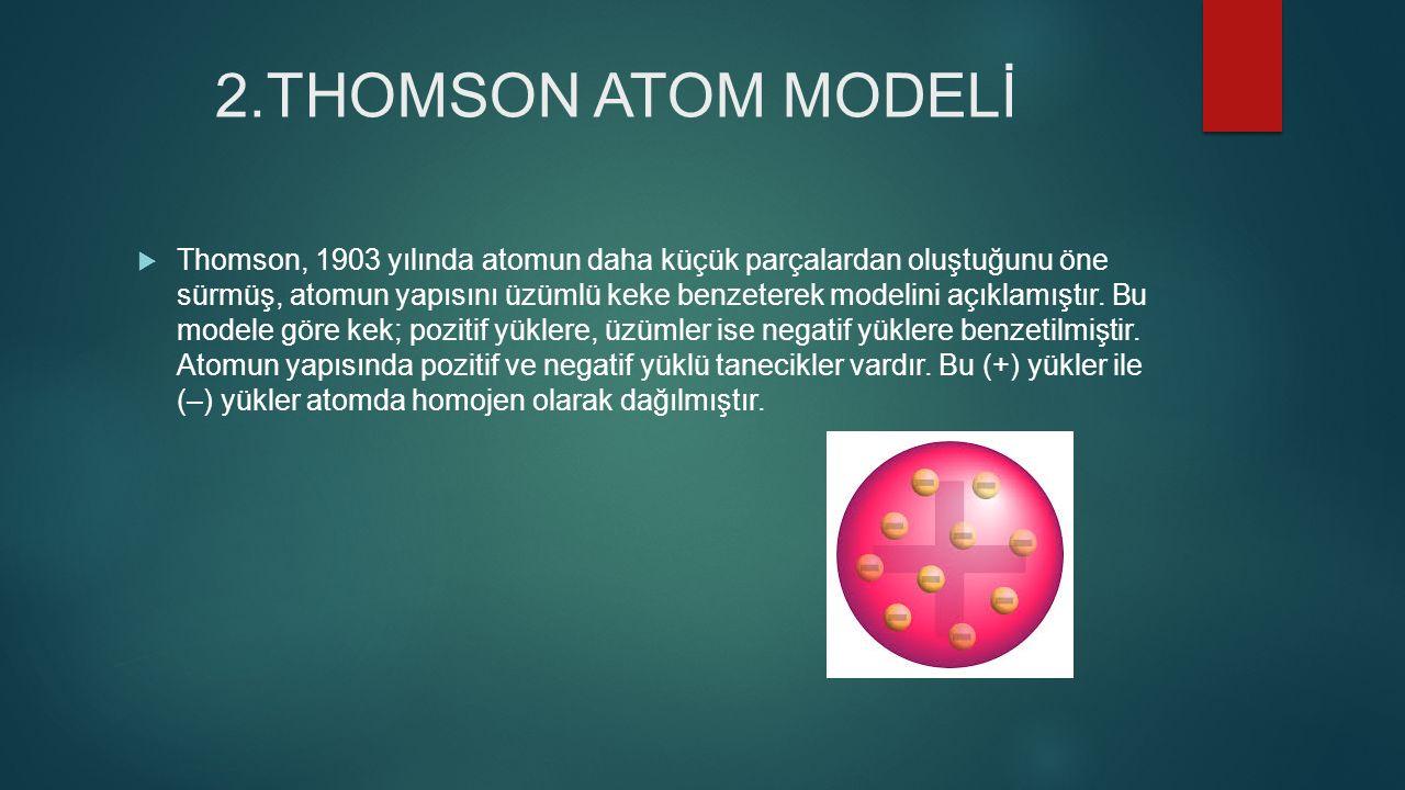 2.THOMSON ATOM MODELİ
