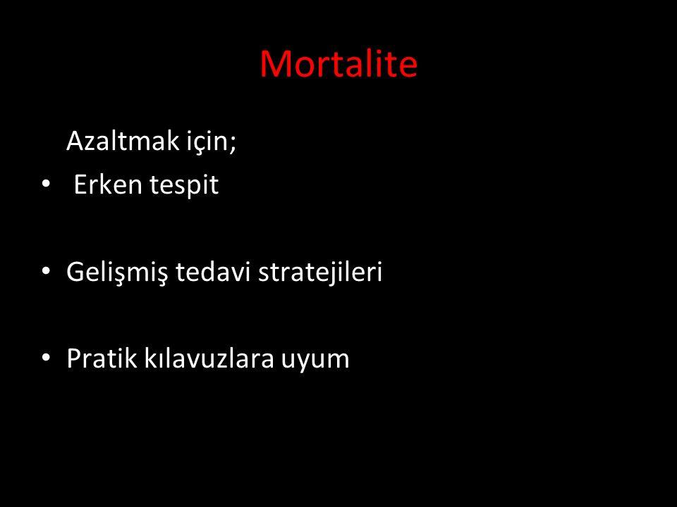 Mortalite Azaltmak için; Erken tespit Gelişmiş tedavi stratejileri