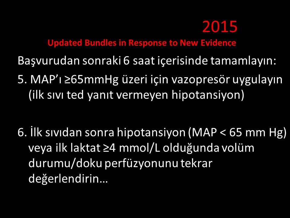 2015 Updated Bundles in Response to New Evidence