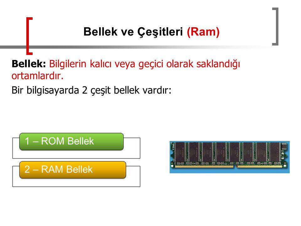 Bellek ve Çeşitleri (Ram)