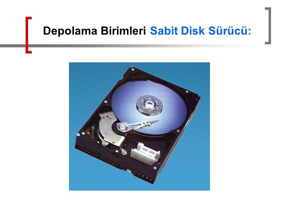 Depolama Birimleri Sabit Disk Sürücü: