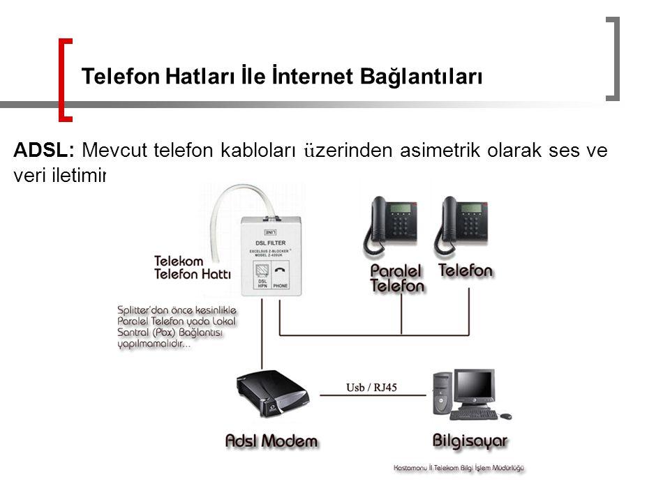Telefon Hatları İle İnternet Bağlantıları
