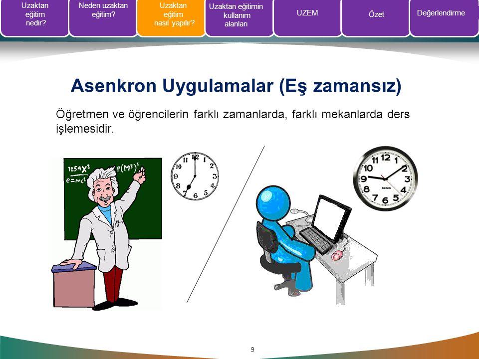 Asenkron Uygulamalar (Eş zamansız)