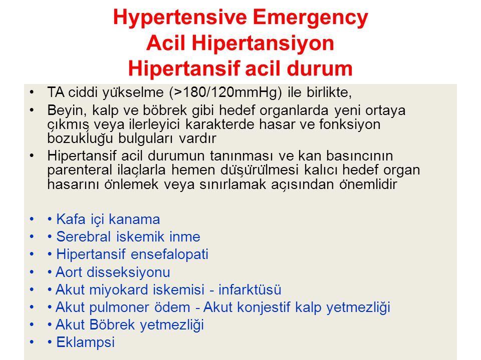 Hypertensive Emergency Acil Hipertansiyon Hipertansif acil durum