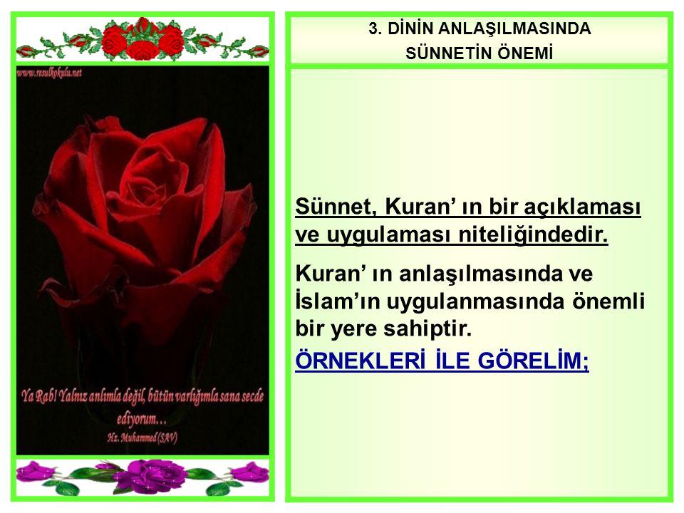 Sünnet, Kuran' ın bir açıklaması ve uygulaması niteliğindedir.