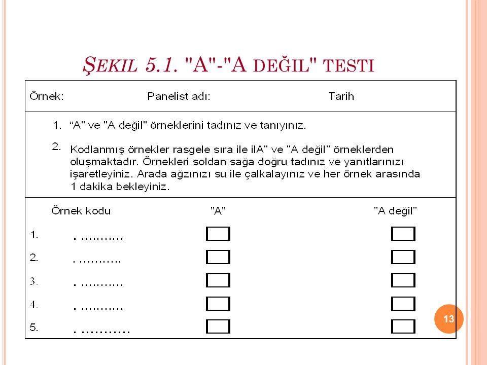 Şekil 5.1. A - A değil testi