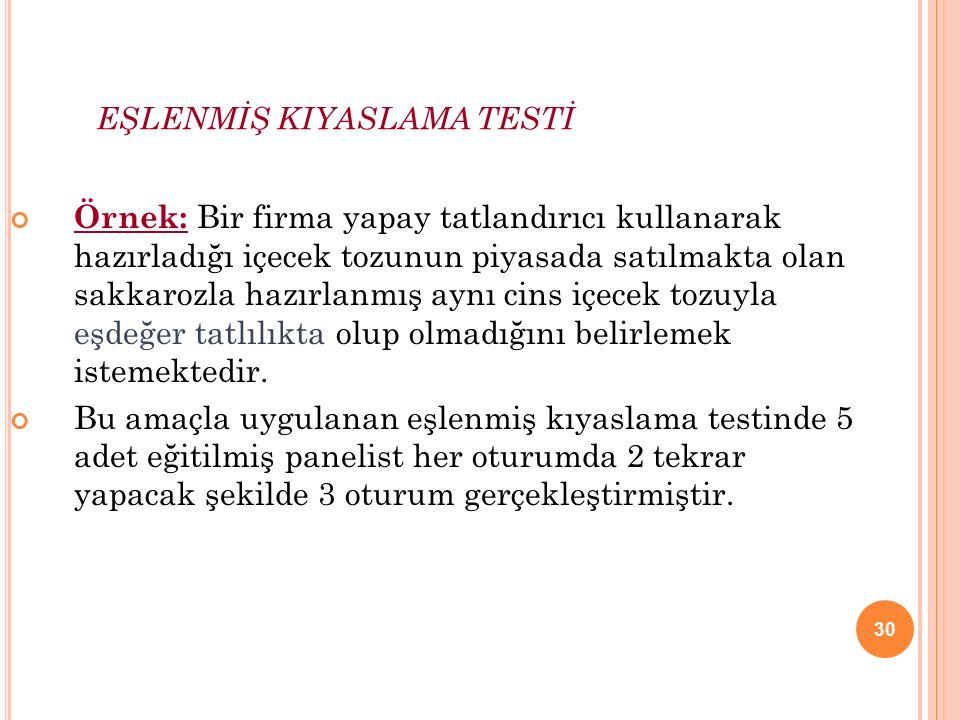 EŞLENMİŞ KIYASLAMA TESTİ