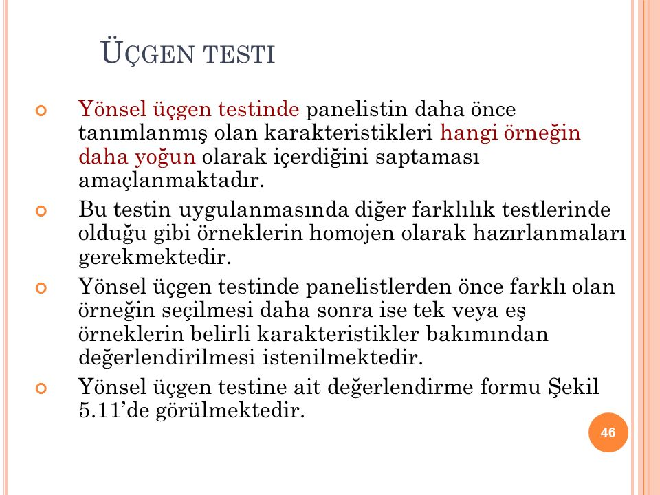 Üçgen testi