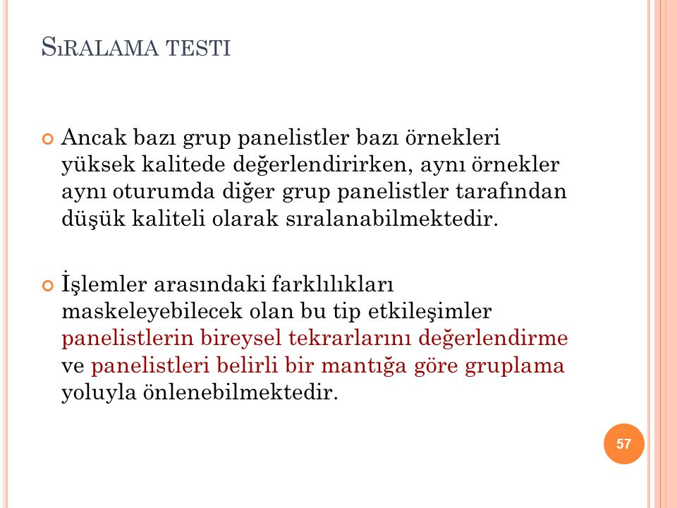 Sıralama testi