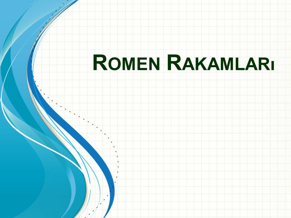 Romen Rakamları Bu şablon bir grup ayarında eğitim malzemesi sunmak için başlangıç dosyası olarak kullanılabilir.