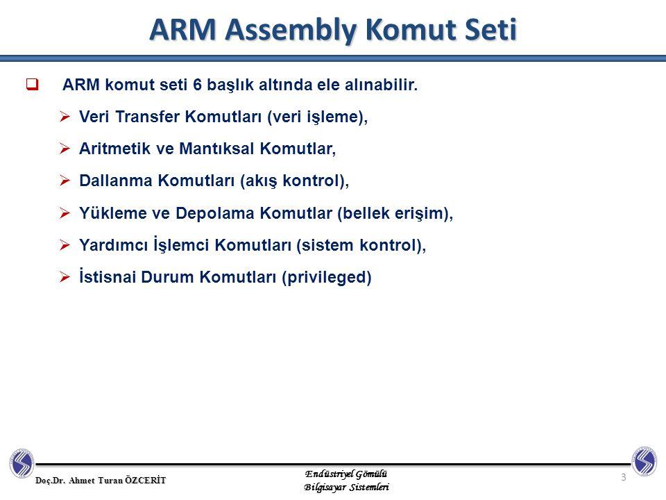 ARM Assembly Komut Seti