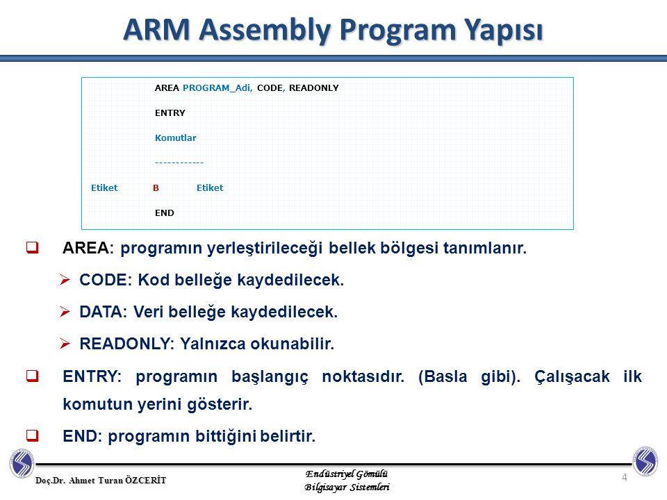 ARM Assembly Program Yapısı