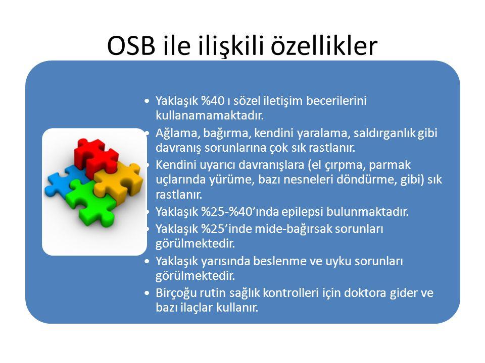 OSB ile ilişkili özellikler